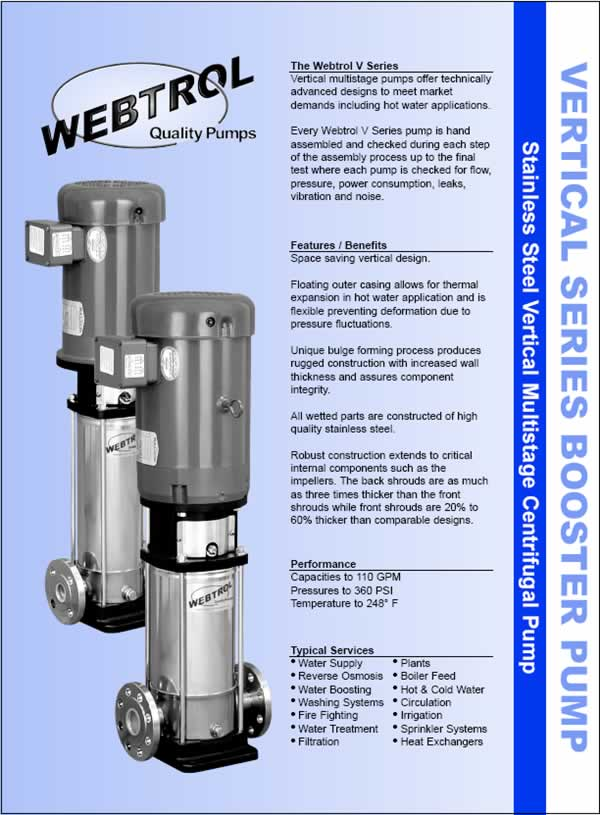 Vertical Series Booster Pumps